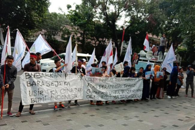 Aksi Jilid V, PT Toba Bara Kembali Diminta Bayar Tanah Rakyat