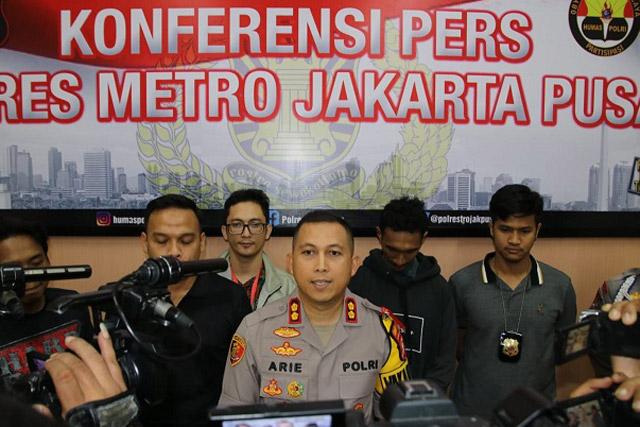 Pengendara Motor di Trotoar Diamankan Resmob Polres Jakarta Pusat