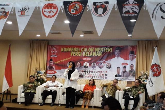 Konvensi Calon Menteri Kabinet Jokowi II Versi Relawan