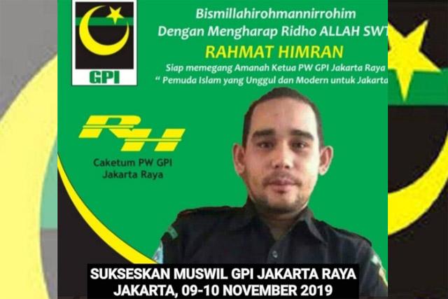 Rahmat Himran Mencalonkan Diri Jadi Ketua PW GPI Jakarta Raya