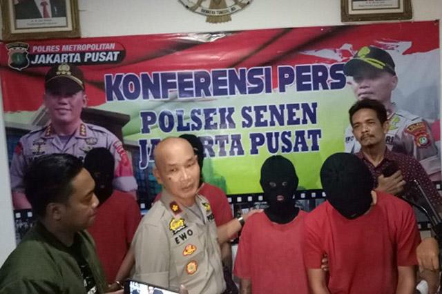 Polsek Senen Jakpus Amankan 4 Pelaku Tindak Kejahatan Jalanan