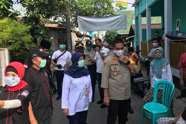 Polres Metro Jakarta Utara Gelar Baksos Polri Peduli Covid-19