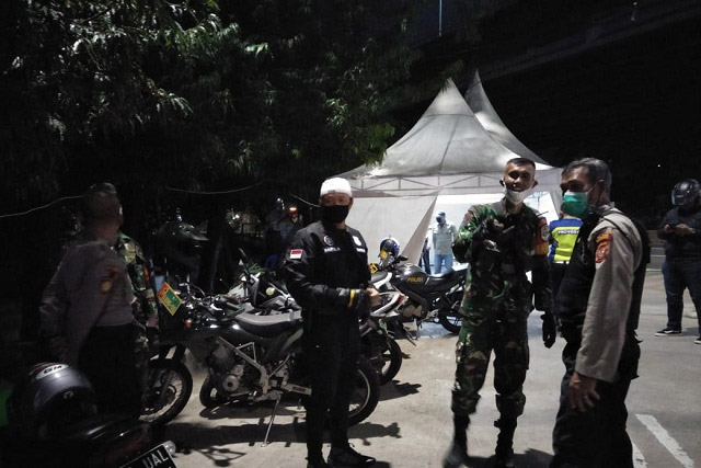 Tiga Pilar Polsek Kemayoran Jakpus Himbau Warga Terapkan PSBB